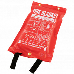 FEMS fire blanket soft plastic pouch
